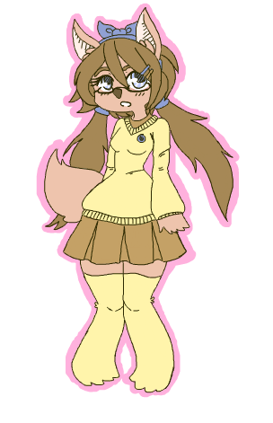 full body with flat coloring