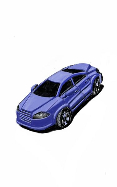 colored car sketch