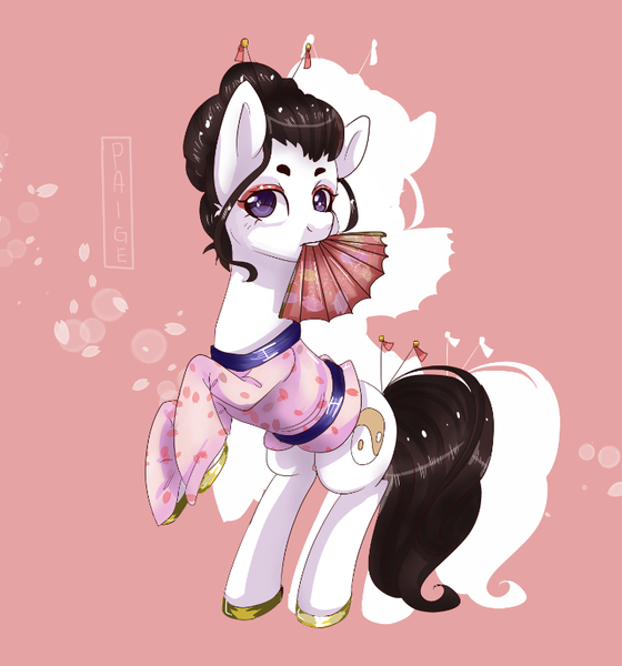 colored pony full body
