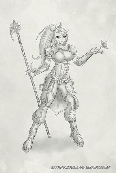 Grey Shades Full body Sketches