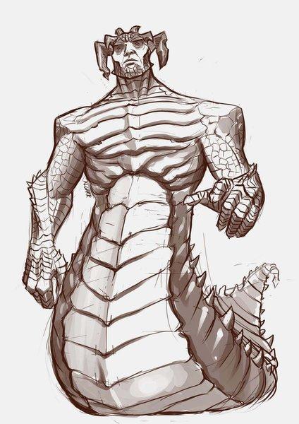 Full-body sketch