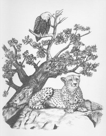 Eagle and Cheetah Tatoo design