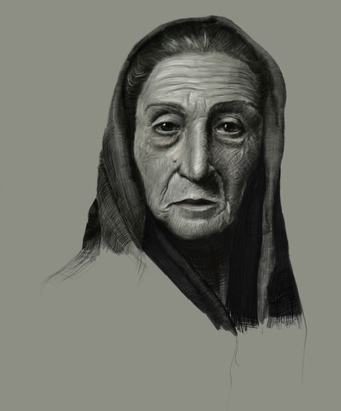 Highly Detailed Black&White Portrait/bust