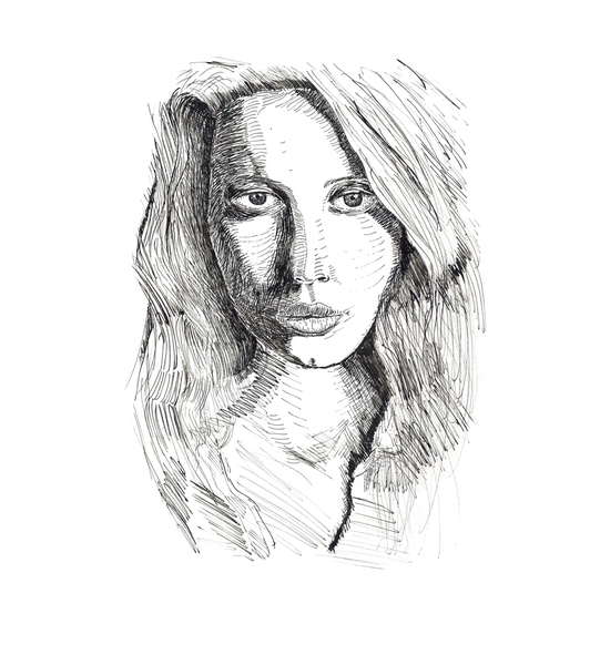 Ink style portrait