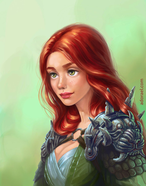 Digital colored fantasy portrait