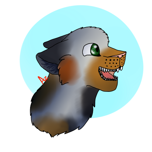 Canine/Feline Colored Shaded Bust
