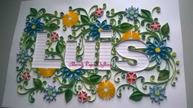 Personalized 3D Paper Quilling Artwork