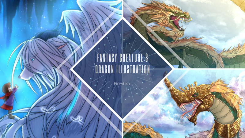 Dragon & fantasy creature