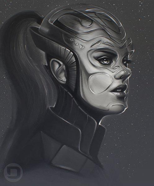 Eve Online (Sci-fi Character Portrait Painting)