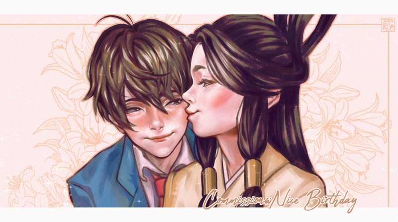 Valentine's offer - 2 character portrait