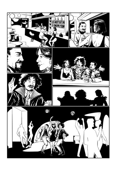Professional Inked comic book page