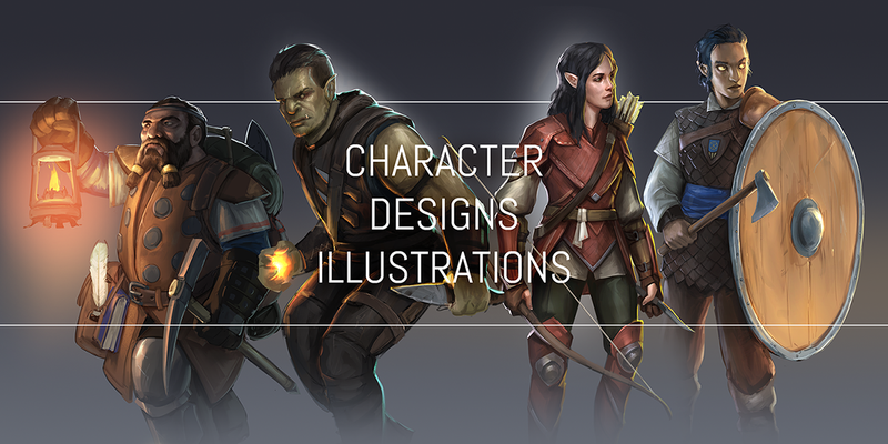 Character Design & Illustrations