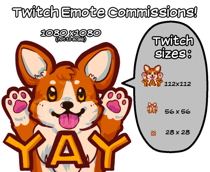 CURRENTLY FULL! Twitch Emotes Commissions!