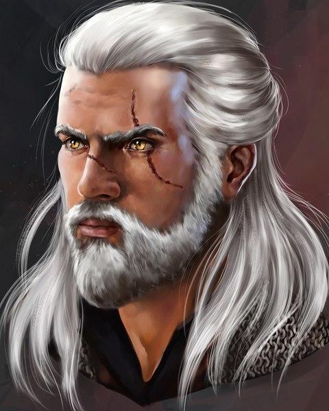Digital realistic portrait