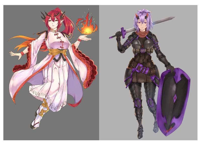 full anime illustration