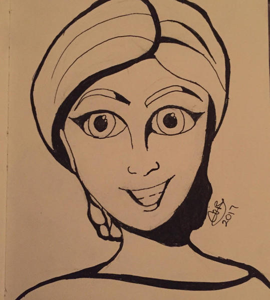 Colored Cartoon Portrait