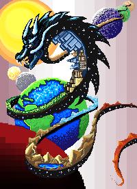 Large Pixel Art Piece