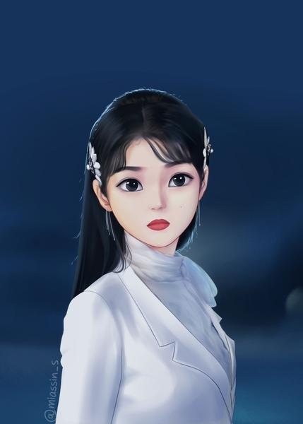 semi realistic portrait (female)