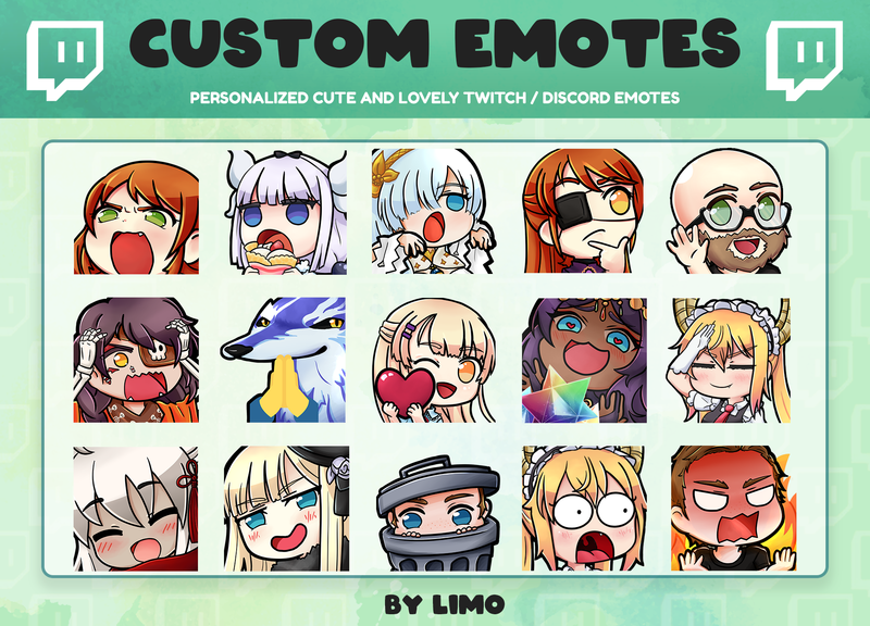 Custom Twitch EMOTES