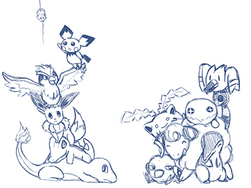 Pokemon Group Sketch Artists Clients