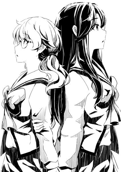 B&W manga art (2 Character)