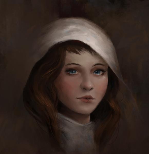 headshot painting