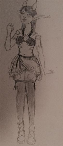 Pencil Sketch Full Body
