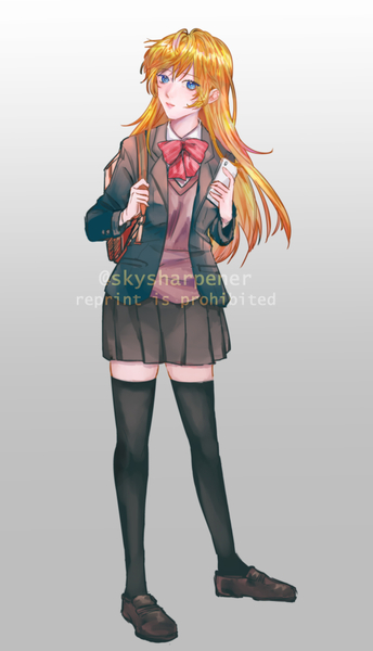 digital colored anime waist up/full body