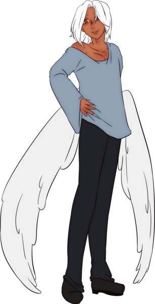 Flat coloured anime full body