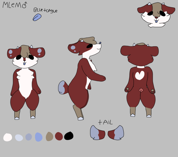Colored Anthro Reference Sheet Artistsclients