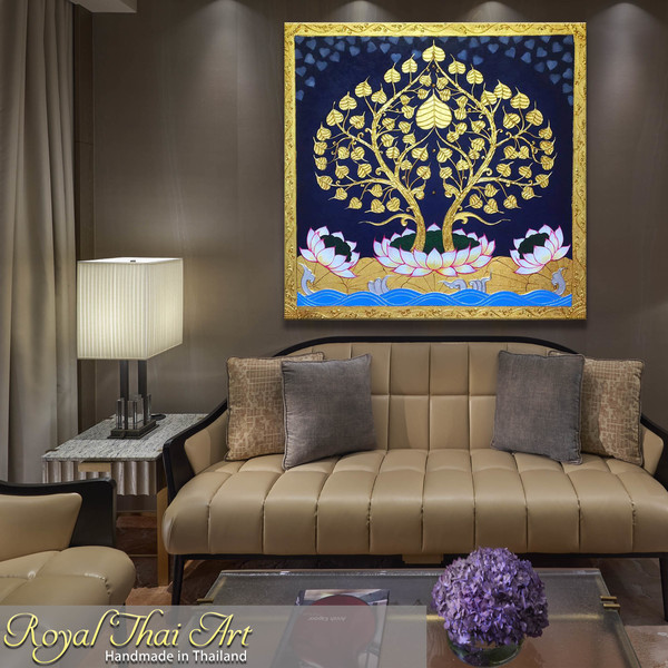 Asian Art Buddha Bodhi Tree