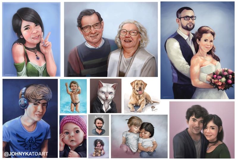 digital painting portraits People/Pets