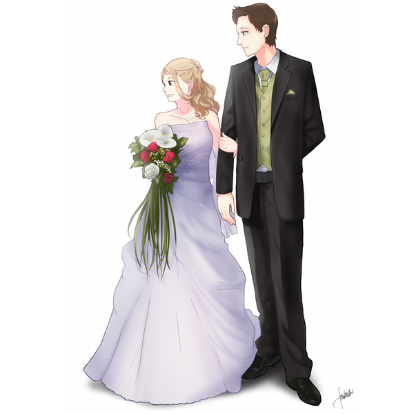 Anime Couple Illustration