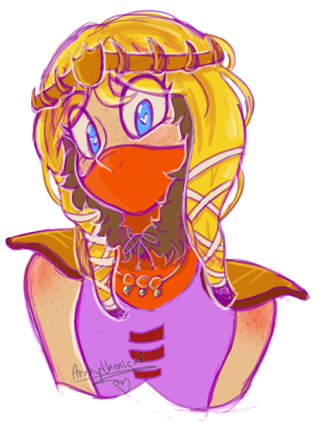 Bust Colored Sketch
