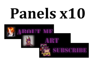 Premade Twitch Panels: Love Letter - Artists&Clients