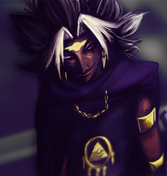 digitally painted waist up commission