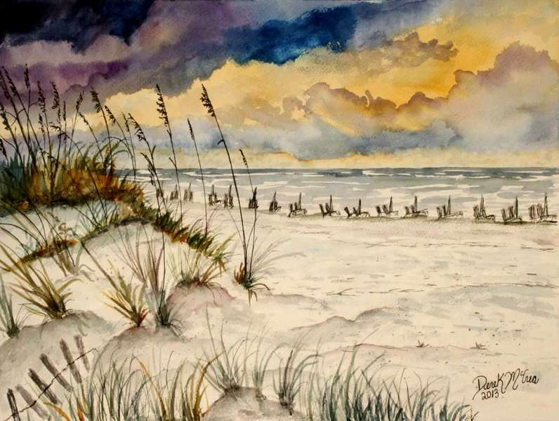 Beach Watercolor Painting