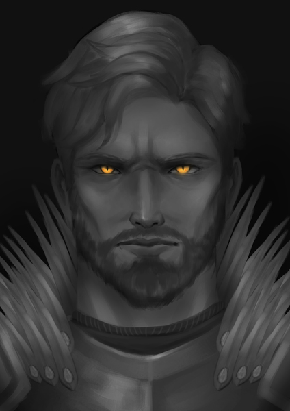Grayscale Portrait with 1 shine color