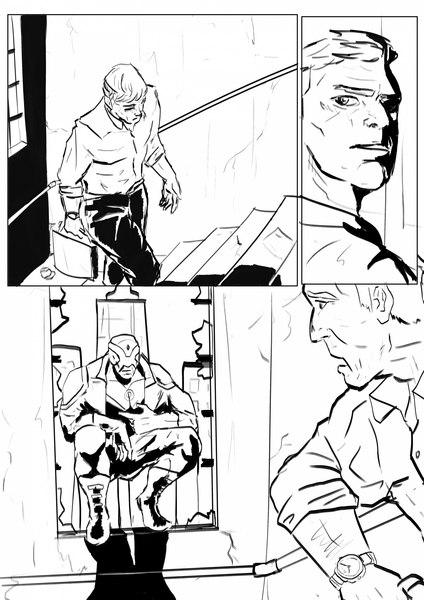 B&W comic page