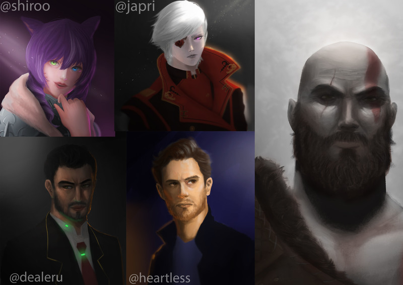 Character Headshot / Portrait Painting