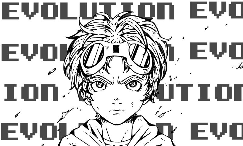 B&W Manga Halfbody