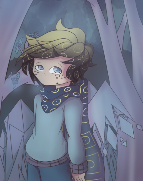 Colored Full Body Shaded Drawing