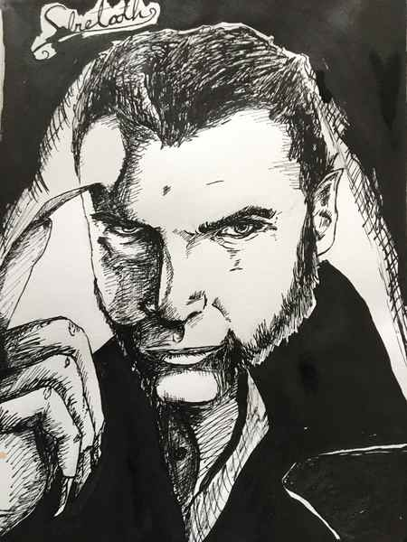 Ink portrait
