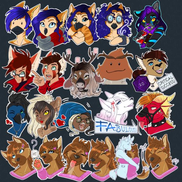 Headshot/Telegram Stickers