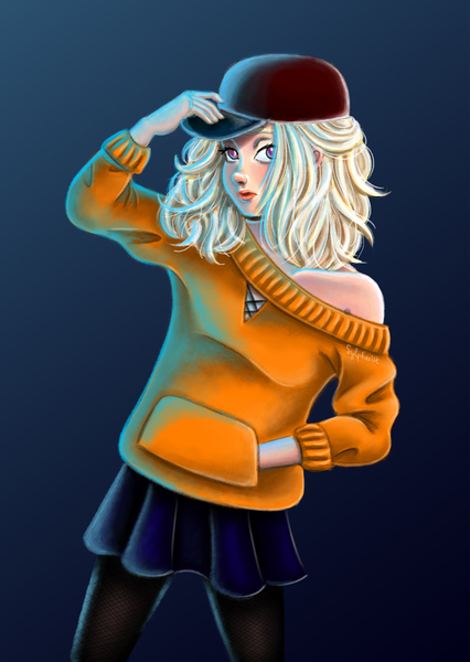 Colored Half-Body Illustration