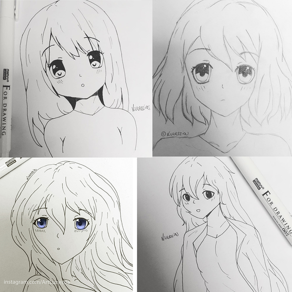 Anime-styled sketch