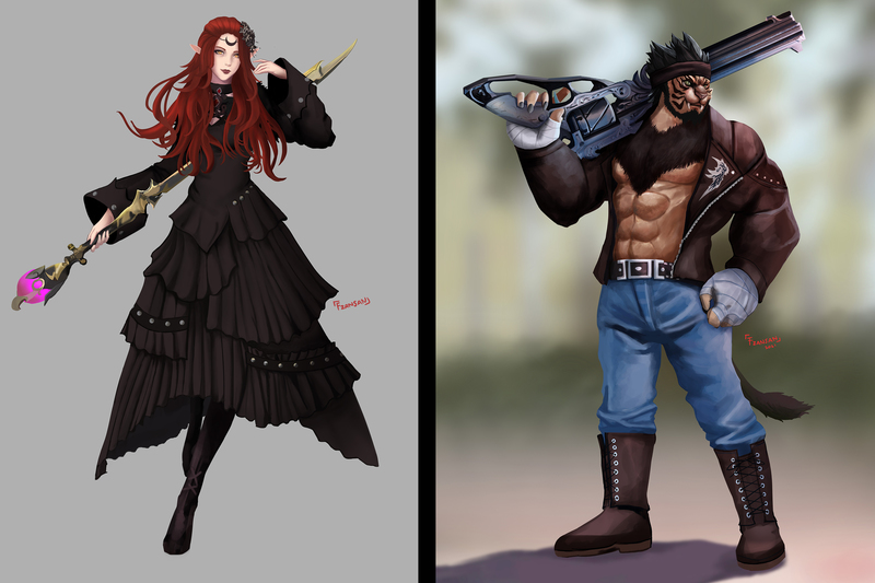 WoW and FFXIV Fullbody Painting
