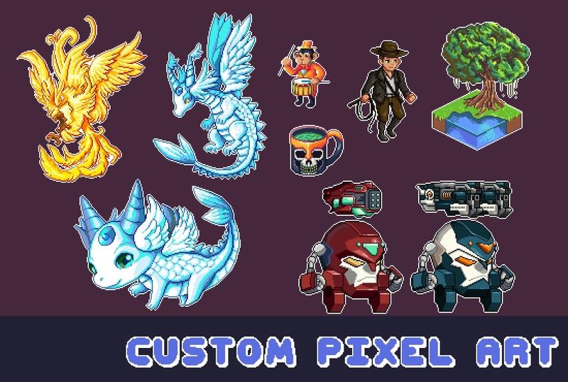 Pixel art (64x64 px) - Artists&Clients