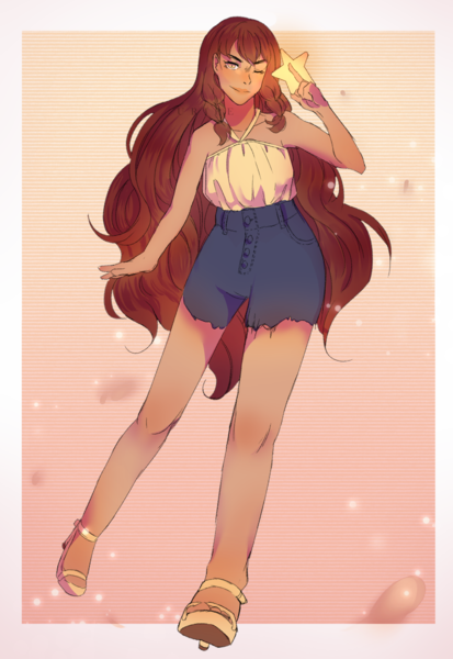 Colored Sketch Full Body