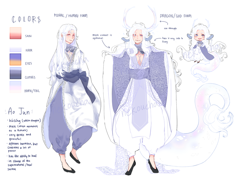 Colored Full Body Reference Artists Clients
